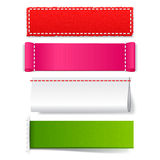 Template realistic fabric labels Royalty Free Stock Photos
