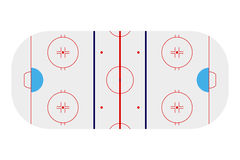 Template realistic hockey arena with lines and gates. vector ill Royalty Free Stock Photo