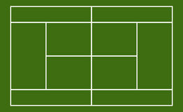 Template Realistic Tennis Court With Lines . Vector Stock ...