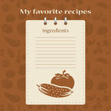Template for recipe books. Space for your text. Seamless background Stock Photos