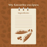 Template for recipe books. Space for your text. Seamless background Royalty Free Stock Photos