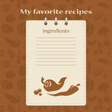 Template for recipe books. Space for your text. Seamless background Royalty Free Stock Photo