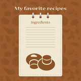 Template for recipe books. Space for your text. Seamless background Royalty Free Stock Image