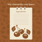 Template for recipe books. Space for your text. Seamless background Royalty Free Stock Images