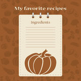 Template for recipe books. Space for your text. Seamless background Stock Photo