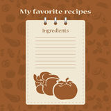 Template for recipe books. Space for your text. Seamless background Stock Image