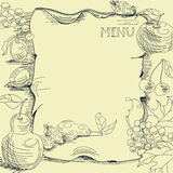 Template for restaurant menu. Universal template for greeting card, web page, background Stock Photos