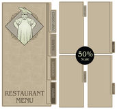 Template restaurant menu Stock Photography