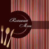 Template of a restaurant menu Royalty Free Stock Images