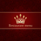 template for a restaurant menu Royalty Free Stock Images