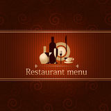 Template for a restaurant menu royalty free illustration