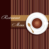 Template of a restaurant menu Royalty Free Stock Photos