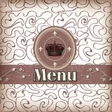 Template for a restaurant menu Stock Photography