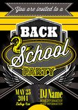 Template for a retro party, back to school. Vector template  for a retro party, back to school Stock Photo