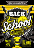 Template for a retro party, back to school. Vector template for a retro party, back to school Royalty Free Stock Photos