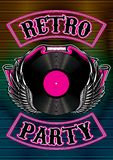 Template for a retro party, concert, events Stock Photos