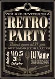 Template for a retro party, concert, events Royalty Free Stock Photo