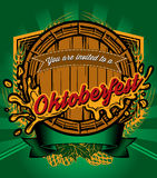 Template for retro poster to Octoberfest Royalty Free Stock Photos