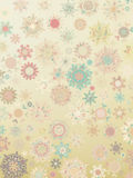 Template Retro Snowflakes background. EPS 8 Stock Photo