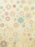 Template Retro Snowflakes background. EPS 8 Stock Photo