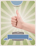 Success retro style poster template Stock Image