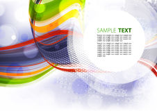Template with round copy space Royalty Free Stock Photos