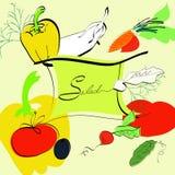 Template for salad menu Stock Photos