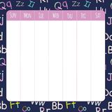 Template for school notebook, diary and organizers Royalty Free Stock Image
