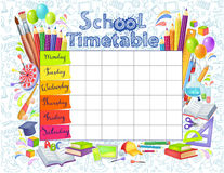 Template school timetable Royalty Free Stock Photography