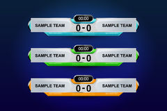 Template scoreboard. For soccer, vector illustration Stock Photography