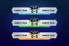 Template scoreboard Stock Photography