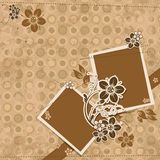 Template scrap card Stock Image