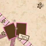 Template scrap card Royalty Free Stock Image