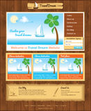 Template for sea travel website Stock Photography