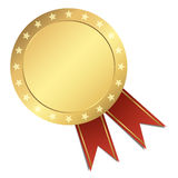 Template Seal - gold with stars. Template Seal gold with stars Royalty Free Stock Photo