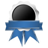 Template seal of quality silver with banner Stock Images