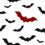 Template of seamless pattern with bats. Concept of Halloween ilustration. Stock Photos