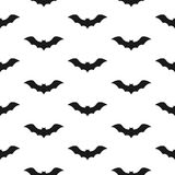 Template of seamless pattern with bats. Concept of Halloween ilustration. Stock Photo