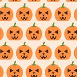 Template of seamless pattern with carved pumpkins. Concept of Halloween ilustration. Vector template of seamless pattern with carved pumpkins. Concept of vector illustration