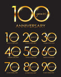 Template Set of Anniversary Vector Illustration Stock Images