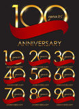 Template Set of Anniversary Vector Illustration Royalty Free Stock Image
