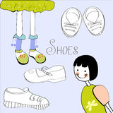 Template with shoes element Stock Image