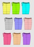 Shorts Color bright Template, Vector Image. Design Graphic Template Shorts Color bright, Vector Image Royalty Free Stock Image