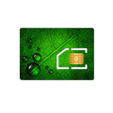 Sim card with chip over white background Stock Images