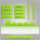 Template for site menu Stock Photography
