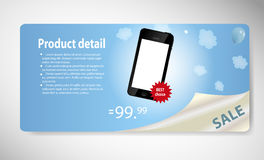 Template for smart phone and mobile phone banner Royalty Free Stock Photos