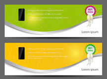 Template for smart phone and mobile phone banner Royalty Free Stock Image