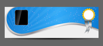 Template for smart phone and mobile phone banner Stock Image