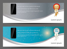 Template for smart phone and mobile phone banner Stock Photography