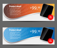 Template for smart phone and mobile phone banner Royalty Free Stock Photo